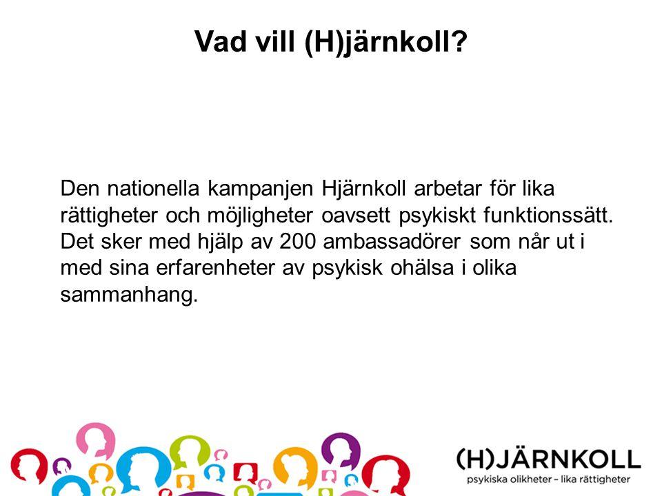 Vad vill (H)järnkoll? Den nationella kampanjen Hjärnkoll arbetar för lika rättigheter och möjligheter oavsett psykiskt funktionssätt. Det sker med hjä