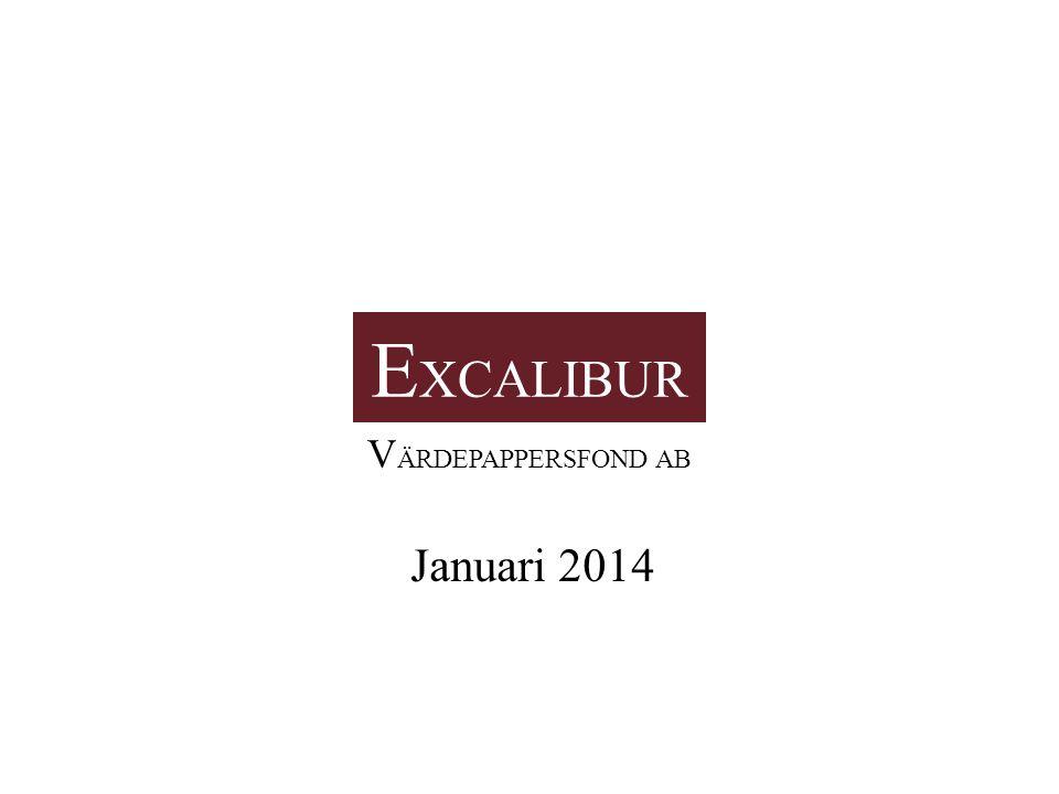 E XCALIBUR VÄRDEPAPPERSFOND AB 2 4Vilka är vi.5Avkastning 6Varför Excalibur.