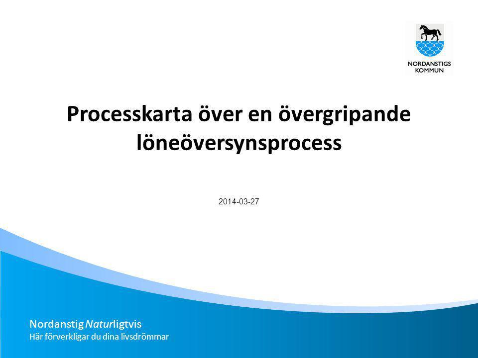 Analys Arbetsgivarens lönepolitik Resultat och utvecklingssamtal Förhandlings start Upptakt Förhandling Förhandlingsavsl ut Meddela ny lön Ny lön Återkoppling Övergripande processmodell för löneöversyn.