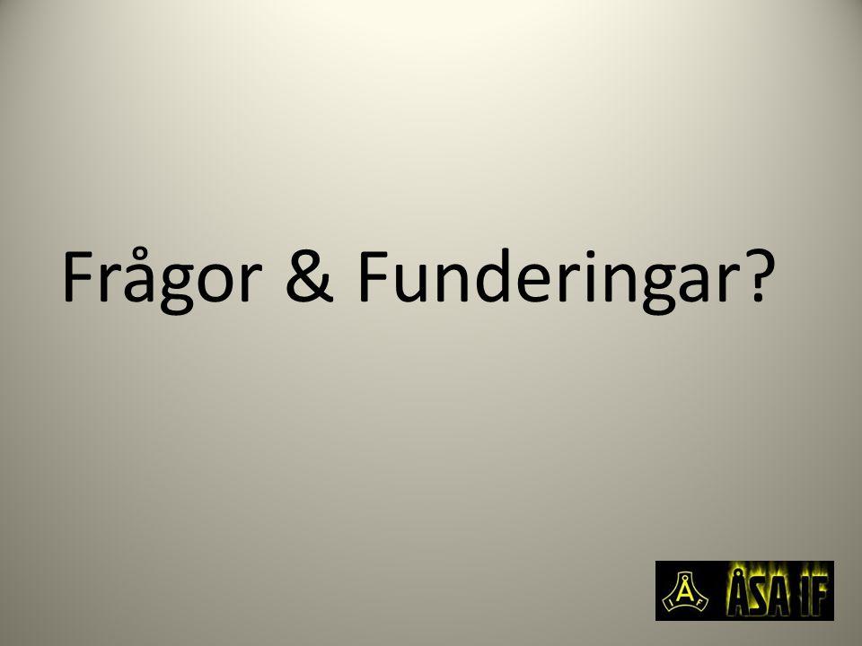 Frågor & Funderingar?