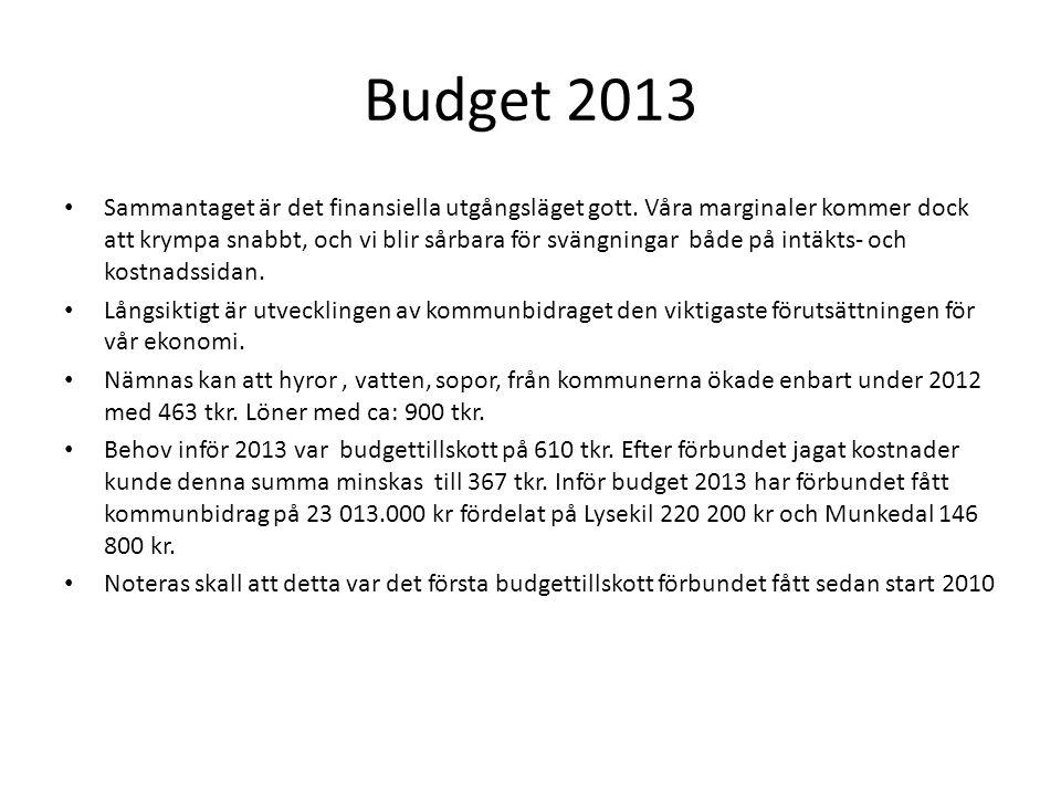 Budget 2013 • Sammantaget är det finansiella utgångsläget gott.