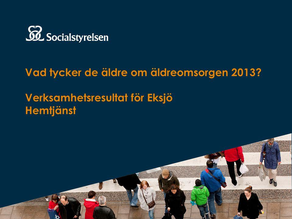 Vad tycker de äldre om äldreomsorgen 2013 Verksamhetsresultat för Eksjö Hemtjänst