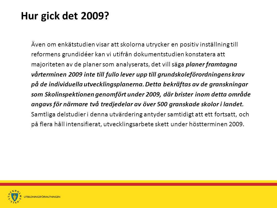 Hur gick det 2009.