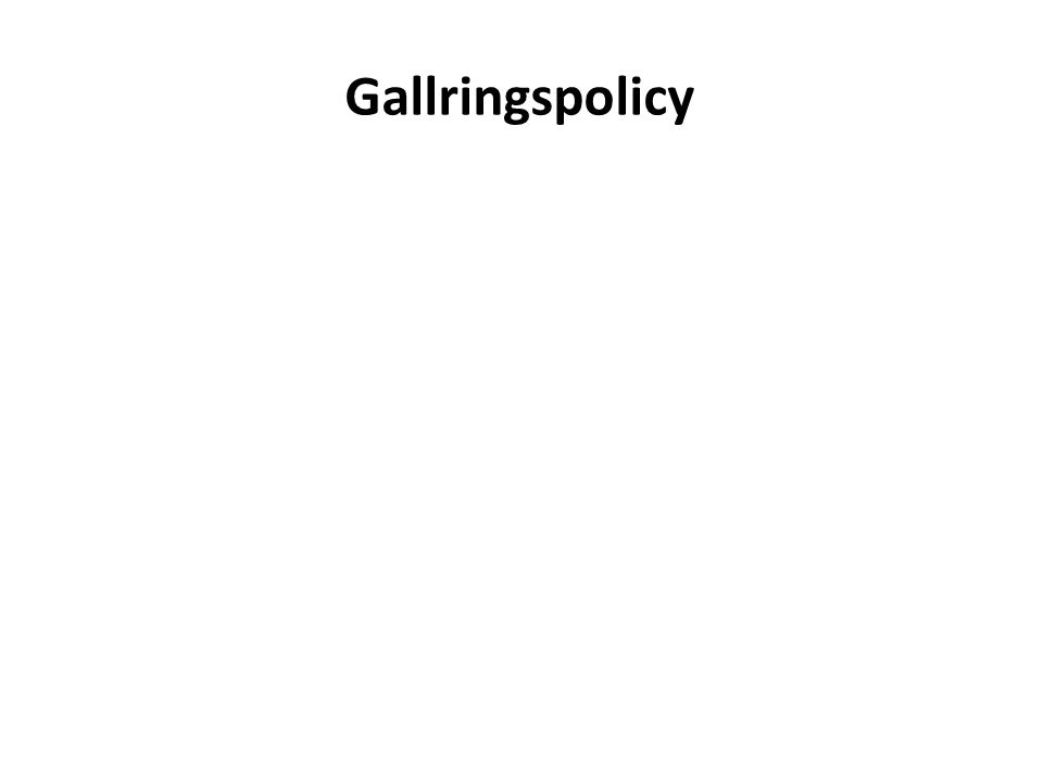 Gallringspolicy