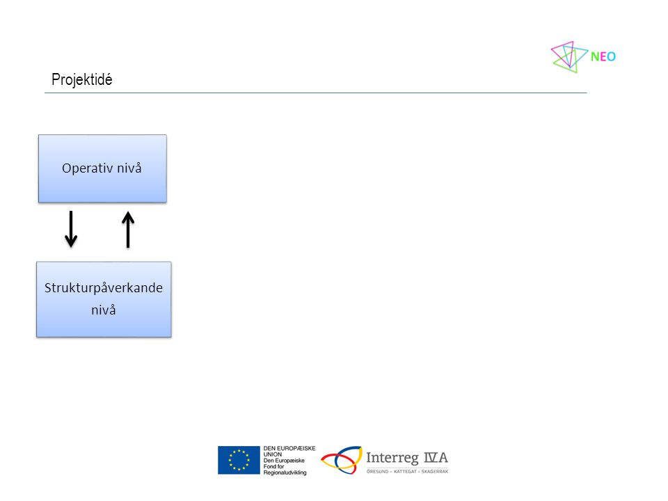 Operativ nivå Strukturpåverkande nivå Projektidé