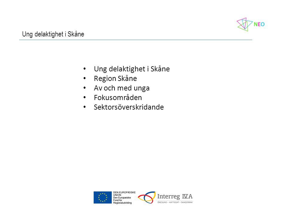 • Ung delaktighet i Skåne • Region Skåne • Av och med unga • Fokusområden • Sektorsöverskridande Ung delaktighet i Skåne