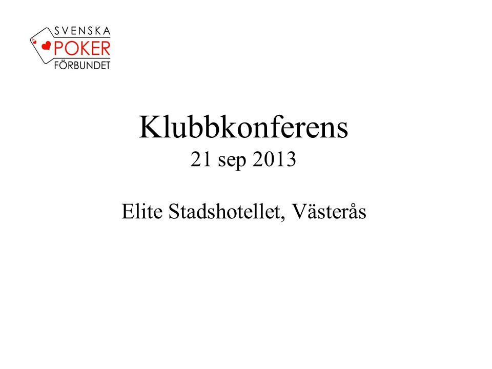 Undersöka möjligheten att, och ifall möjlighet och tillfälle finns, arrangera speciella SM/Svepof -events på svensk mark - Klubbkonferens genomförs för första gången - Ambitionen var högre än vad utfallet visar - Nya tag 2014