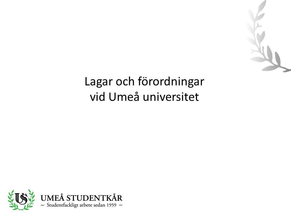 Lagar och förordningar vid Umeå universitet