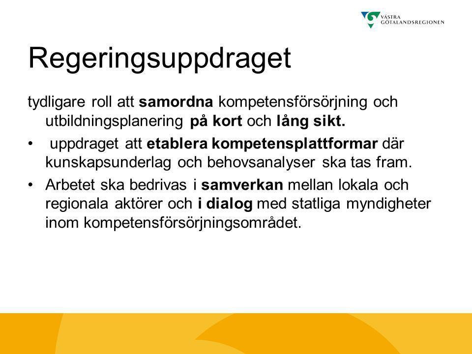Vision Västra Götaland •Livskraftigt och hållbart näringsliv •Ledande i kompetens och kunskapsutveckling •Hög standard på infrastruktur och kommunikationer •Ledande kulturregion •God hälsa Tillväxtprogrammet •Ett gemensamt Västra Götaland •Jämställdhet •Integration •Internationalisering