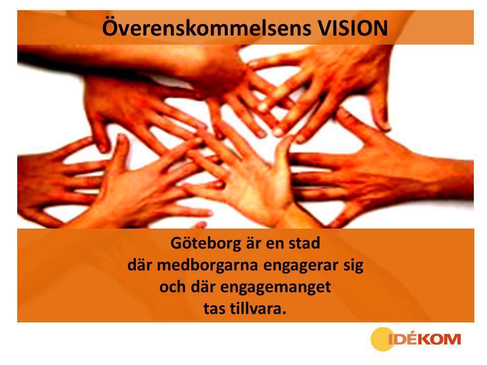 Göteborg är en stad där medborgarna engagerar sig och där engagemanget tas tillvara. Överenskommelsens VISION