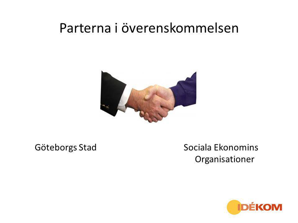 Parterna i överenskommelsen Göteborgs Stad Sociala Ekonomins Organisationer