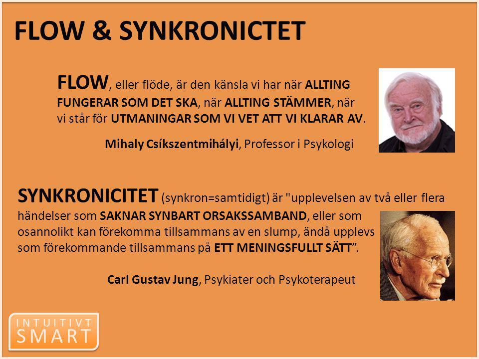 INTUITIVT SMART INTUITIVT SMART SYNKRONICITET (synkron=samtidigt) är