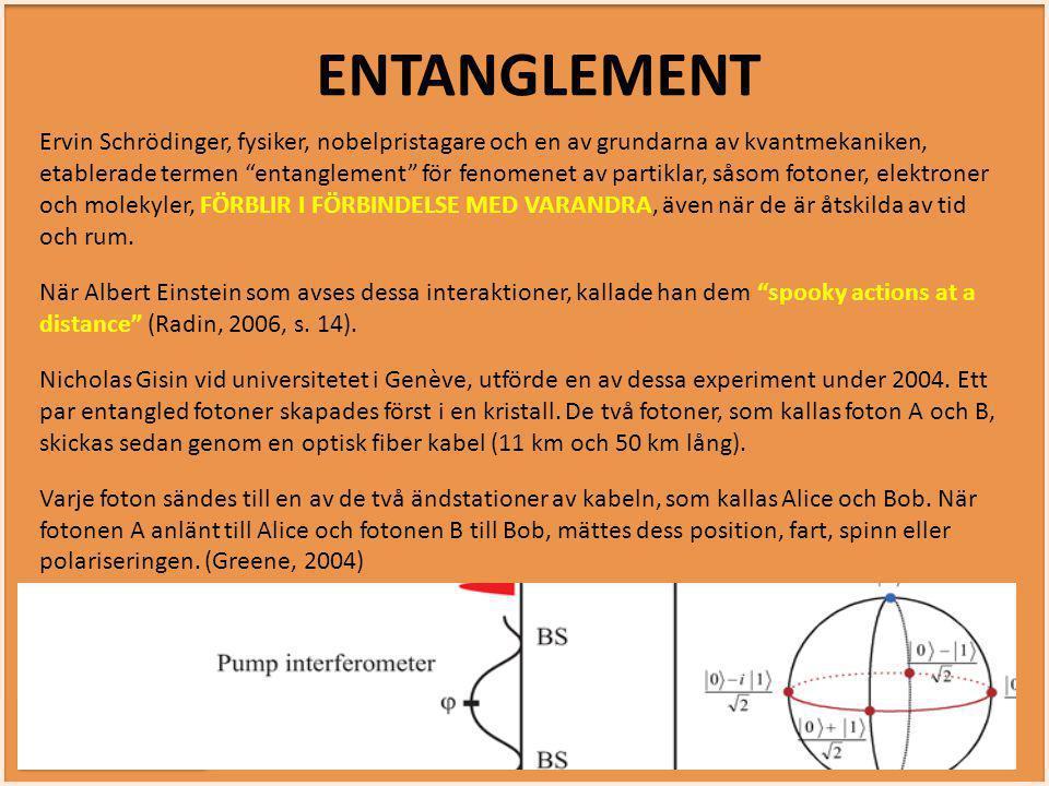 """INTUITIVT SMART INTUITIVT SMART Ervin Schrödinger, fysiker, nobelpristagare och en av grundarna av kvantmekaniken, etablerade termen """"entanglement"""" fö"""