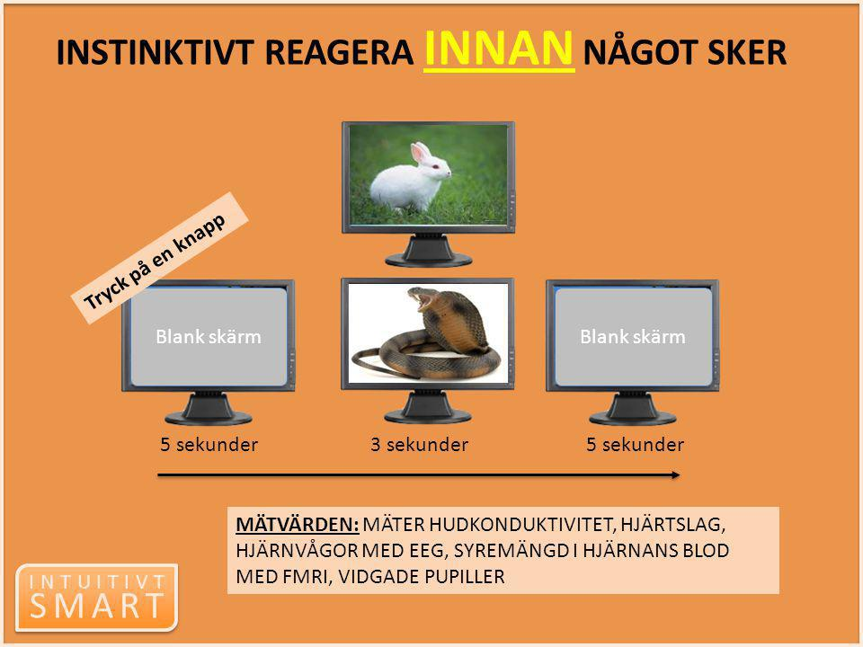 INTUITIVT SMART INTUITIVT SMART Blank skärm 5 sekunder 3 sekunder 5 sekunder Tryck på en knapp MÄTVÄRDEN: MÄTER HUDKONDUKTIVITET, HJÄRTSLAG, HJÄRNVÅGO