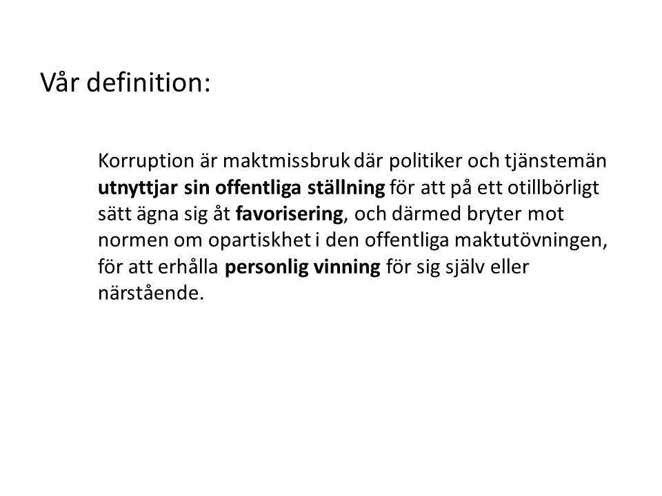 Tänkbara förklaringar • Ändrade relationer privat/offentligt.