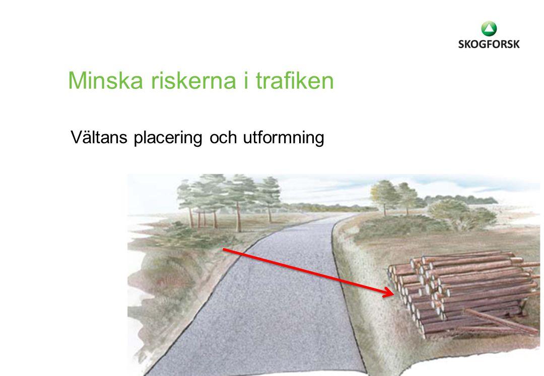 Vältans placering och utformning Minska riskerna i trafiken