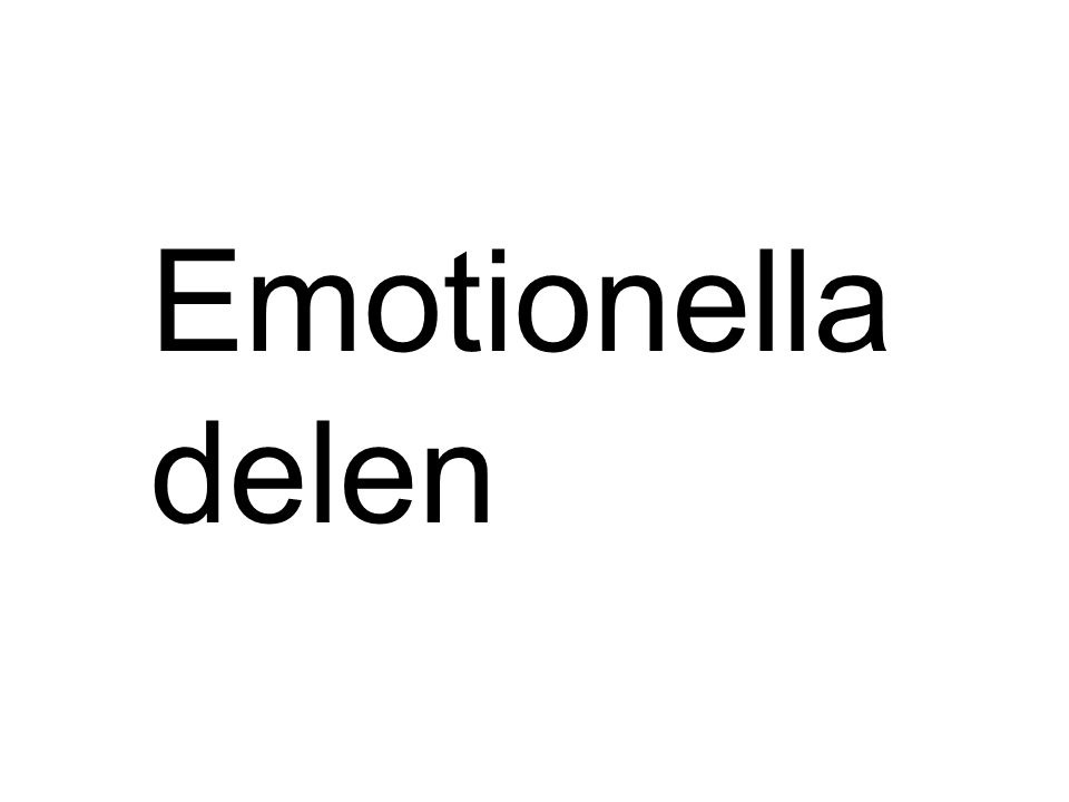 Emotionella delen
