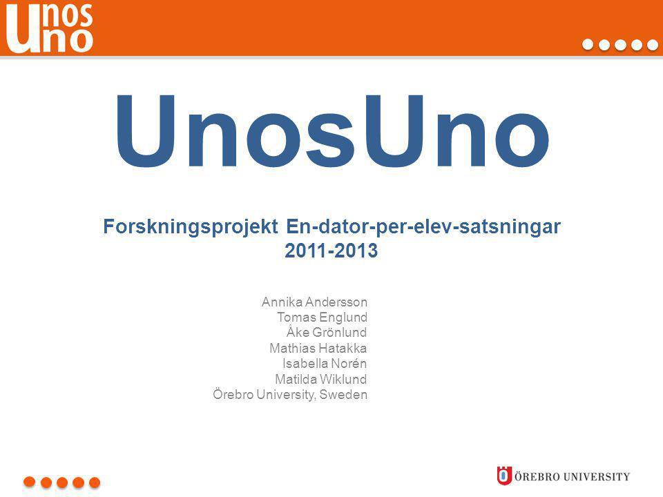 Exempel lärarforskning:1:1-datorn och källkritiken • Skarpängskolan, Täby.