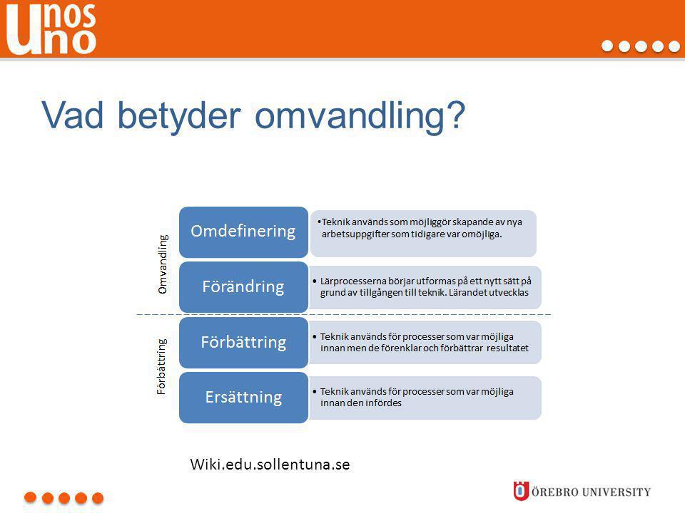 Vad betyder omvandling? Wiki.edu.sollentuna.se