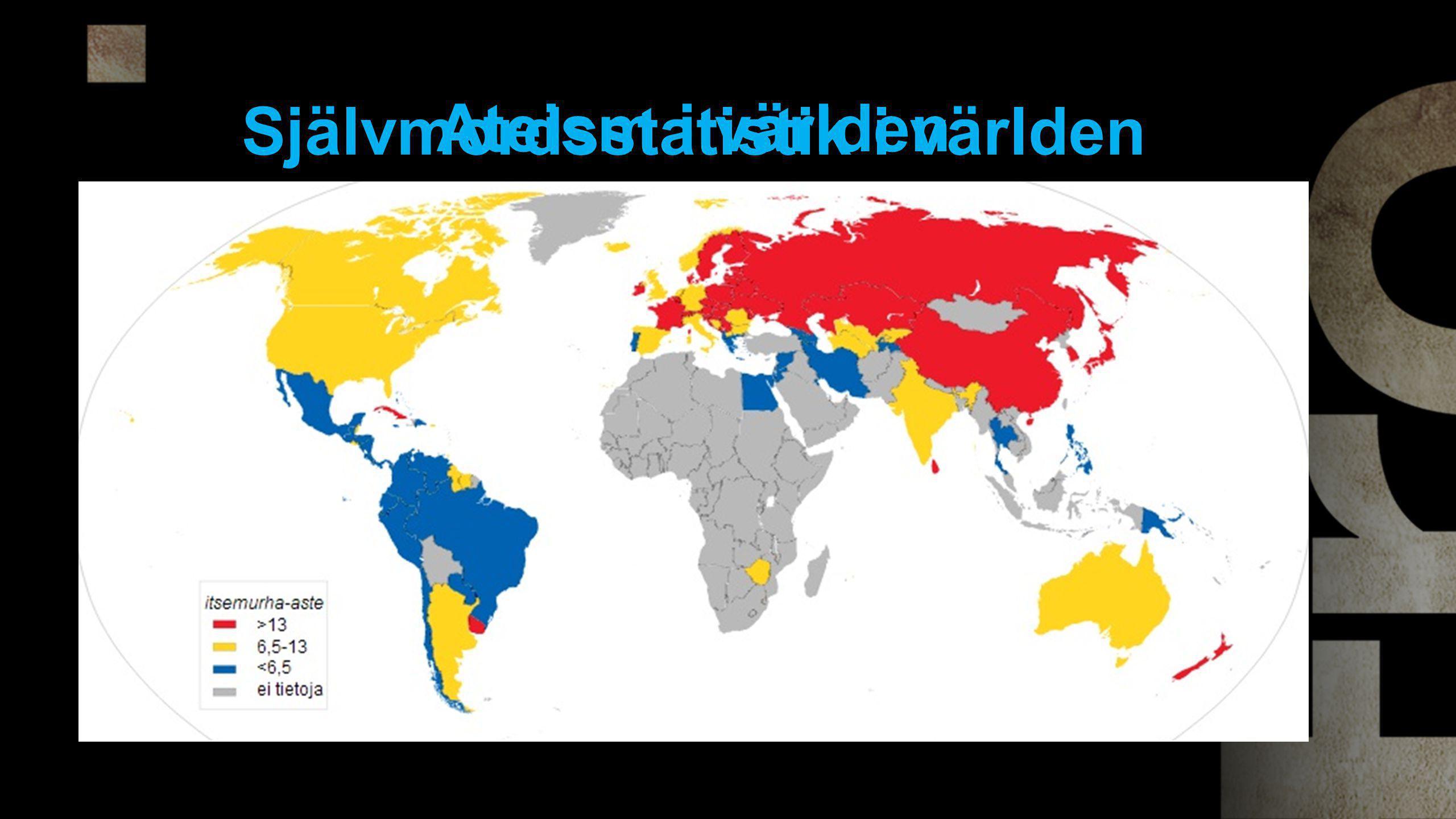 Självmordsstatistik i världen Ateism i världen