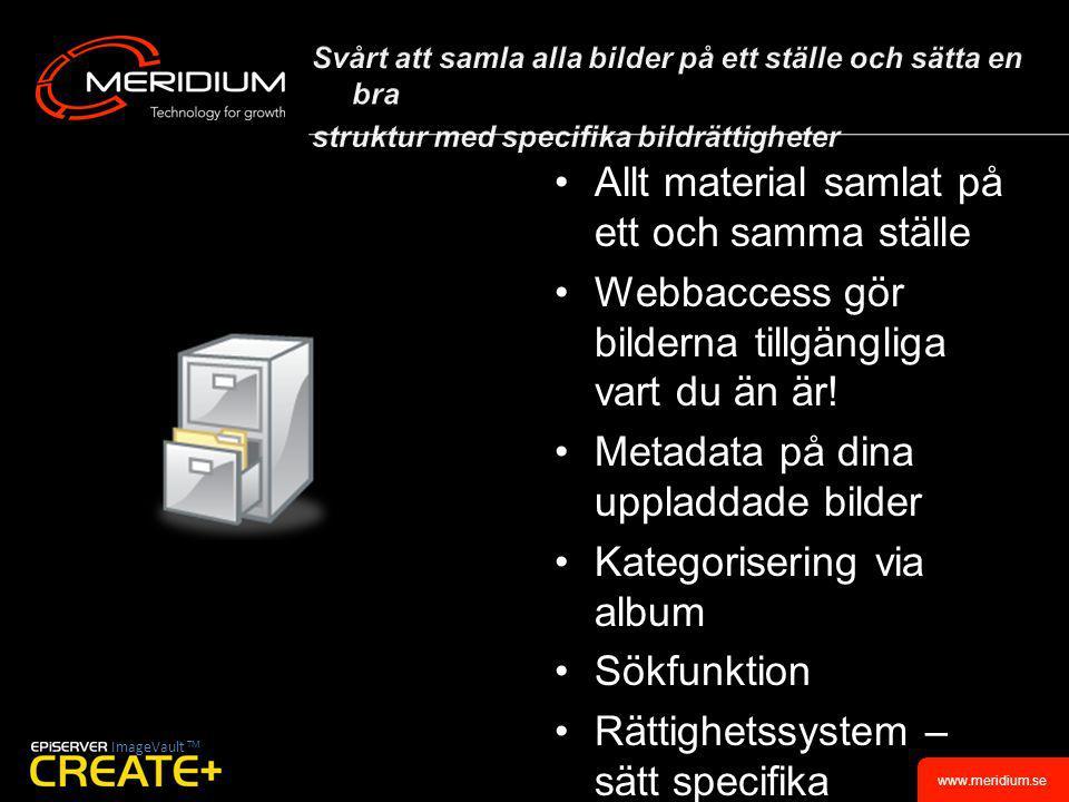 www.meridium.se Offentlig SektorStora företag SharePoint ProcessMap TM