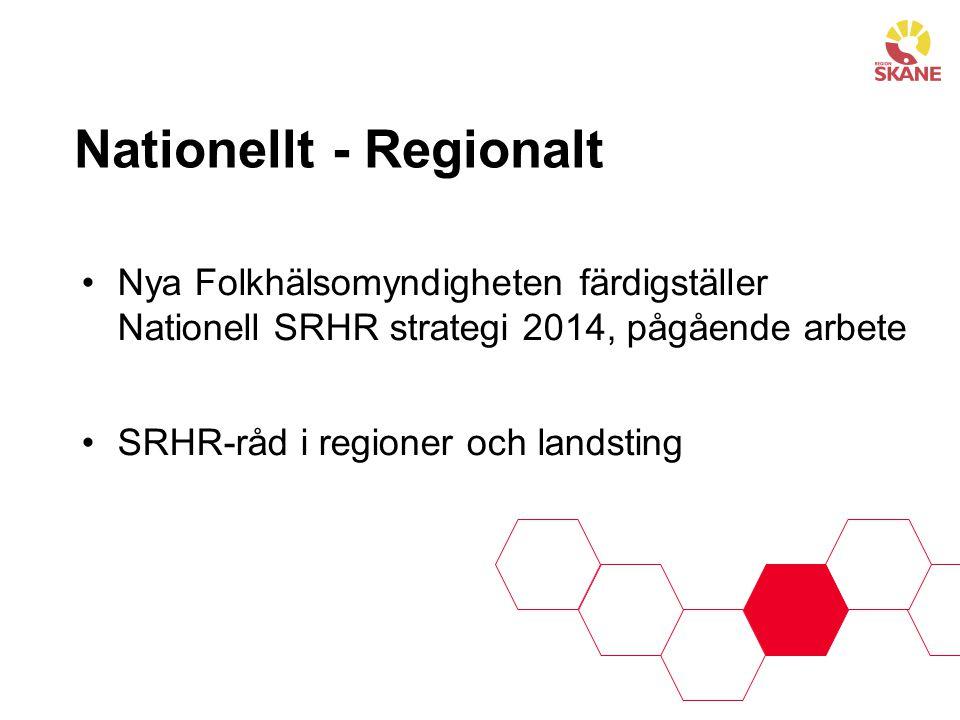 Strategi för sexuell och reproduktiv hälsa i Region Skåne 2011-2015 •Region Skånes insatser inom området sexuell och reproduktiv hälsa är inriktade på att åstadkomma en: •adekvat och jämlik tillgång till förebyggande insatser och information samt •adekvat och jämlik vård/behandling.
