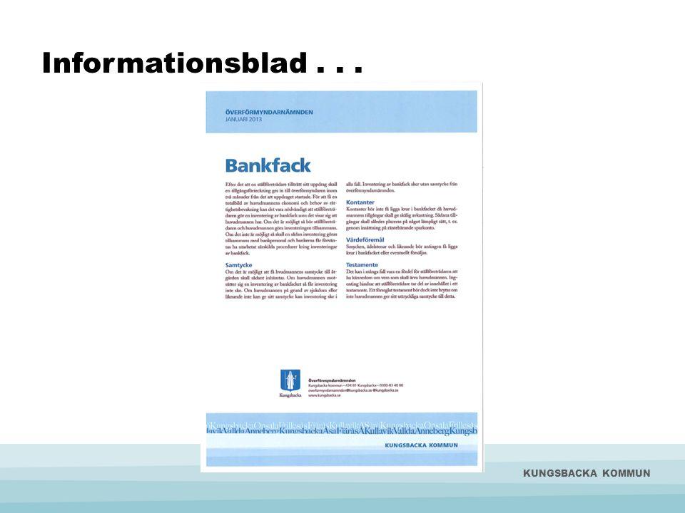 Informationsblad... KUNGSBACKA KOMMUN