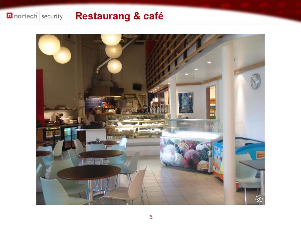 Tillståndsplikt 7 Speciella regler för restauranger och caféer  Övervakning av serveringsyta får inte ske  Efter beviljat tillstånd från Länsstyrelsen kan man dock få övervaka restaurangens entré, garderob, kö utanför entrén samt bakom bardisken  Gäster som sitter vid bardisken och äter eller dricker får under inga omständigheter övervakas