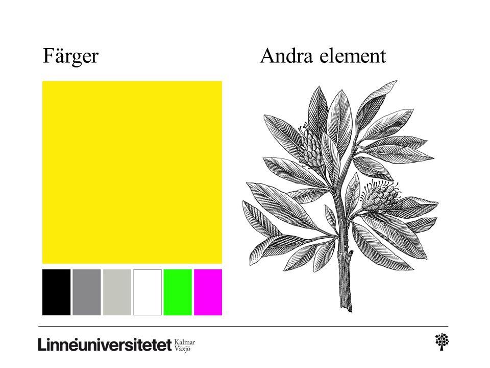 FärgerAndra element