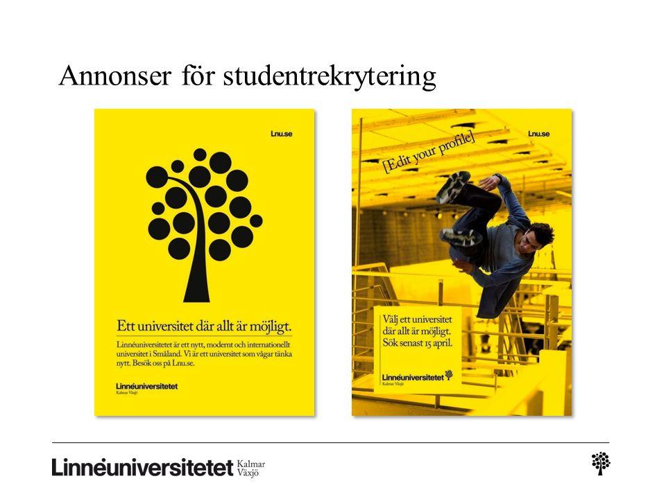 Annonser för studentrekrytering