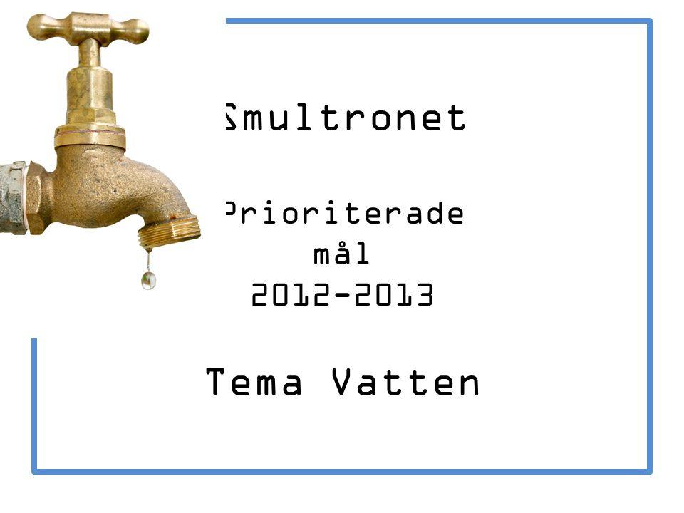 Smultronet Prioriterade mål 2012-2013 Tema Vatten