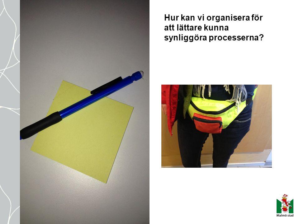 Hur kan vi organisera för att lättare kunna synliggöra processerna?
