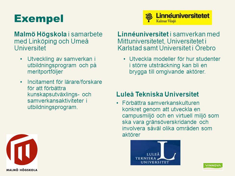 Infogad sidfot, datum och sidnummer syns bara i utskrift (infoga genom fliken Infoga -> Sidhuvud/sidfot) Exempel Malmö Högskola i samarbete med Linköp