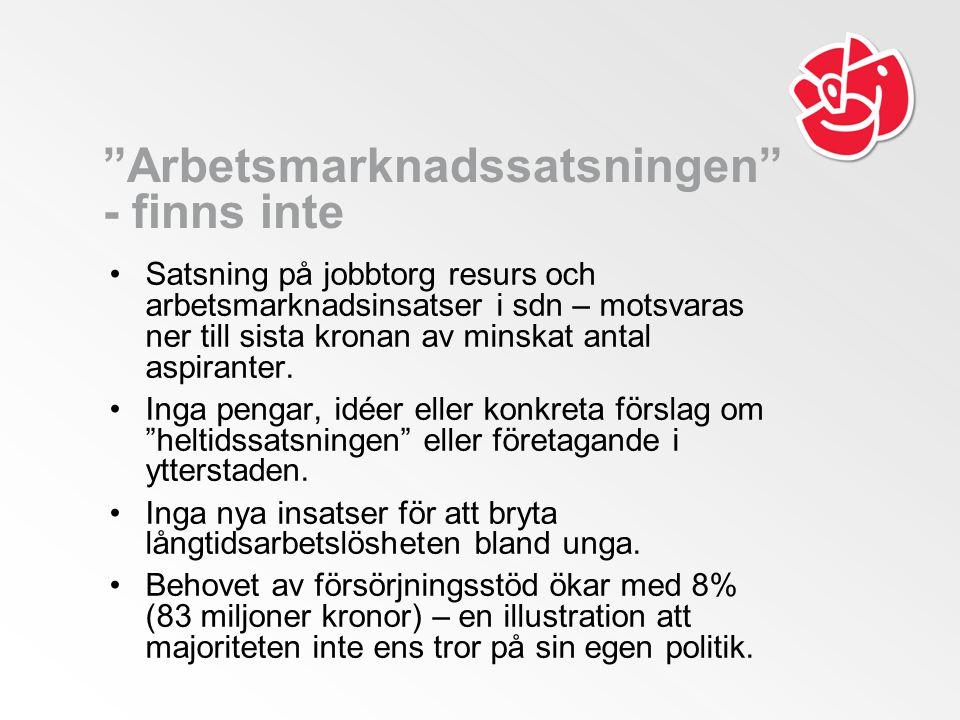 Ett Stockholm där alla kan växa, utbilda sig och arbeta Socialdemokraternas budget 2012