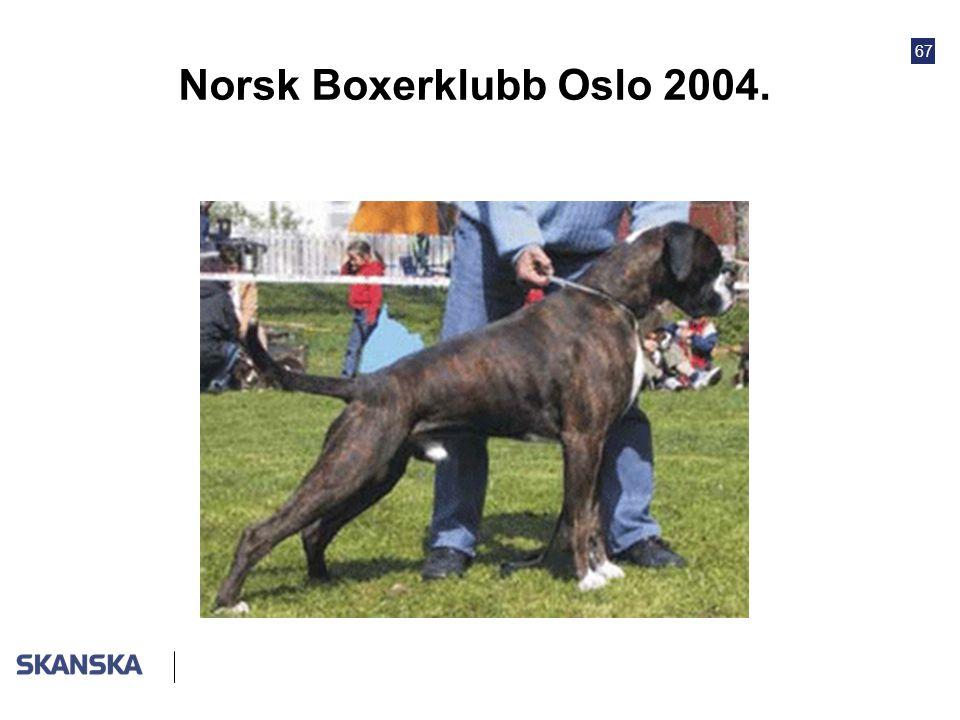 67 Norsk Boxerklubb Oslo 2004.