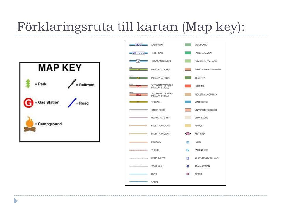 Förklaringsruta till kartan (Map key):