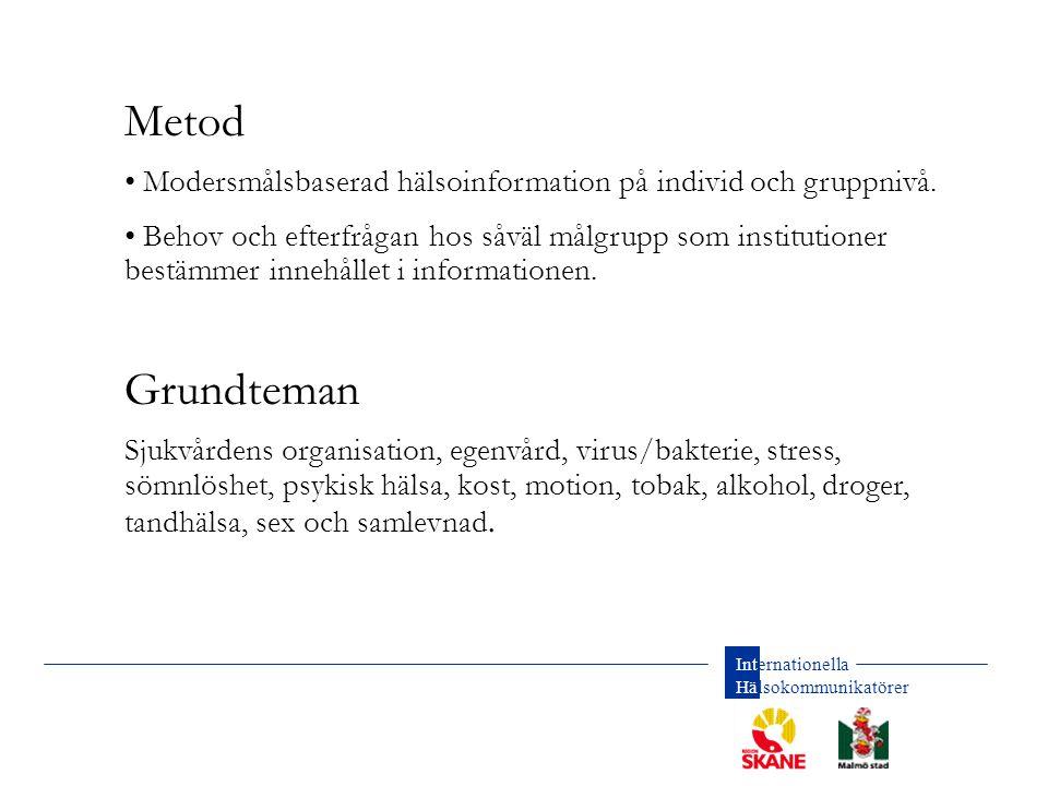 Internationella Hälsokommunikatörer Diagnos Vem.