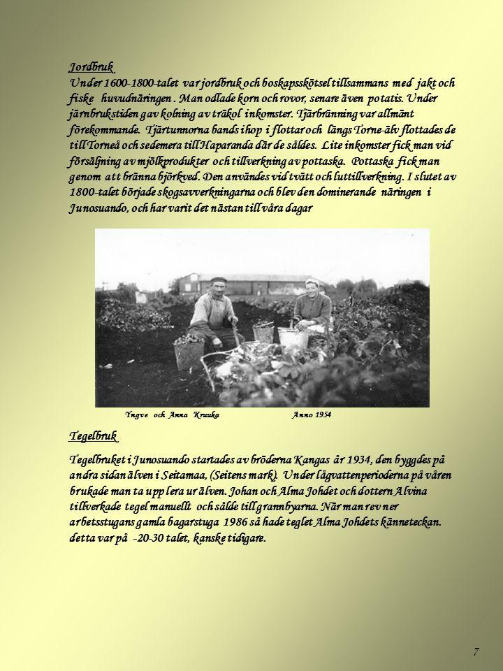 8 Skräddare Kajsa Kruukkka (Kujan-Kaisa) levde vid sekelskriftstiden.