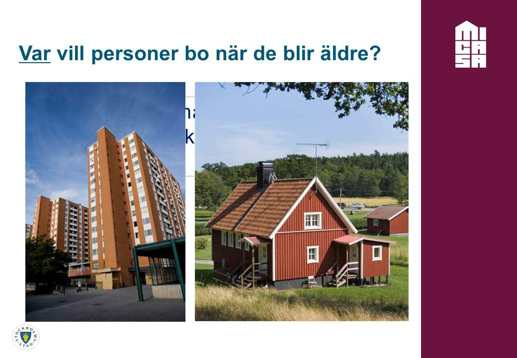 På en plats där man trivs… På en plats man känner sig trygg… Var vill personer bo när de blir äldre?