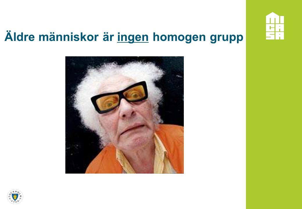 Äldre människor är ingen homogen grupp