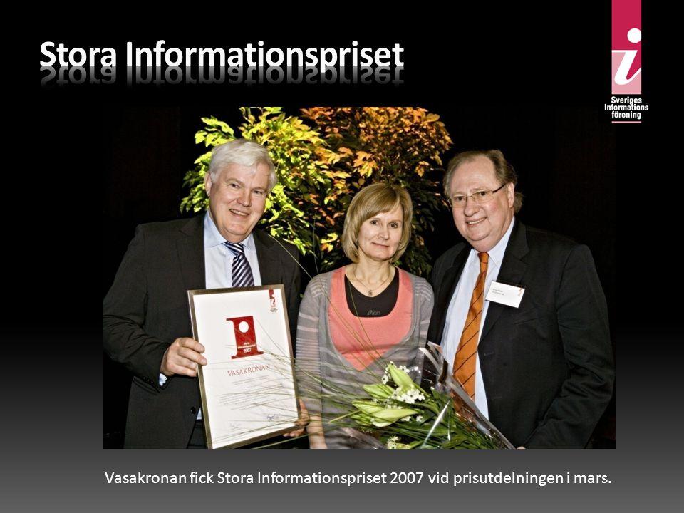 Vasakronan fick Stora Informationspriset 2007 vid prisutdelningen i mars.