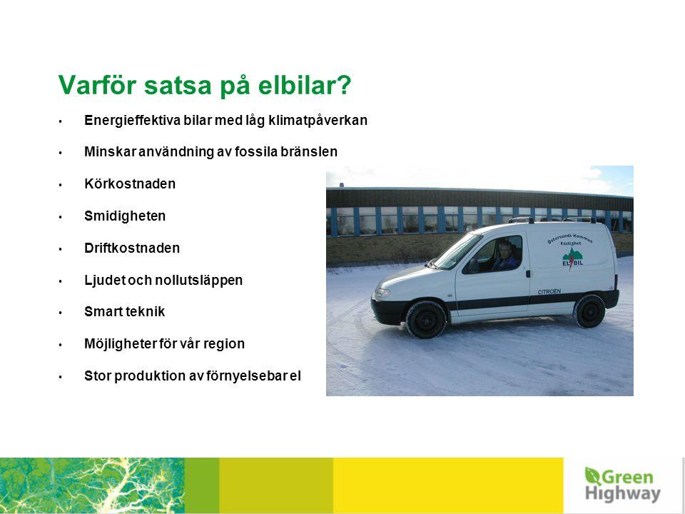 Dagens flåte av ladbare biler, Trondheim kommune Totalt 27 ladbare biler i drift • Hjemmetjenesten: 2 Think (primo nov.
