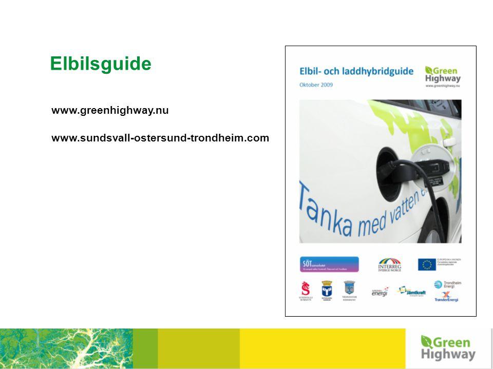 Elbilsguide www.greenhighway.nu www.sundsvall-ostersund-trondheim.com