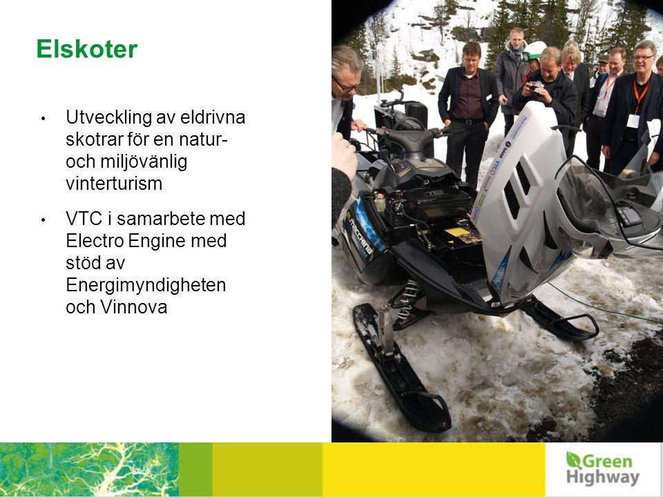 Elskoter • Utveckling av eldrivna skotrar för en natur- och miljövänlig vinterturism • VTC i samarbete med Electro Engine med stöd av Energimyndigheten och Vinnova