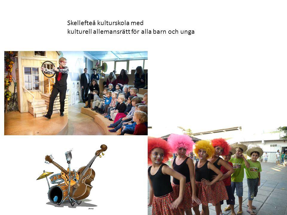 Skellefteå kulturskola med kulturell allemansrätt för alla barn och unga