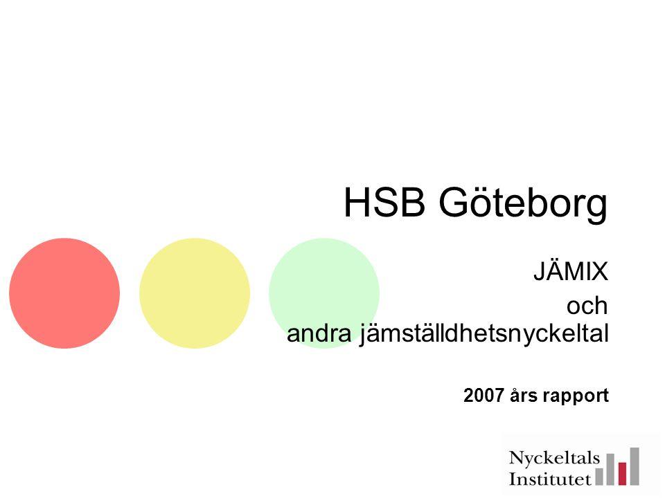 HSB Göteborg JÄMIX och andra jämställdhetsnyckeltal 2007 års rapport