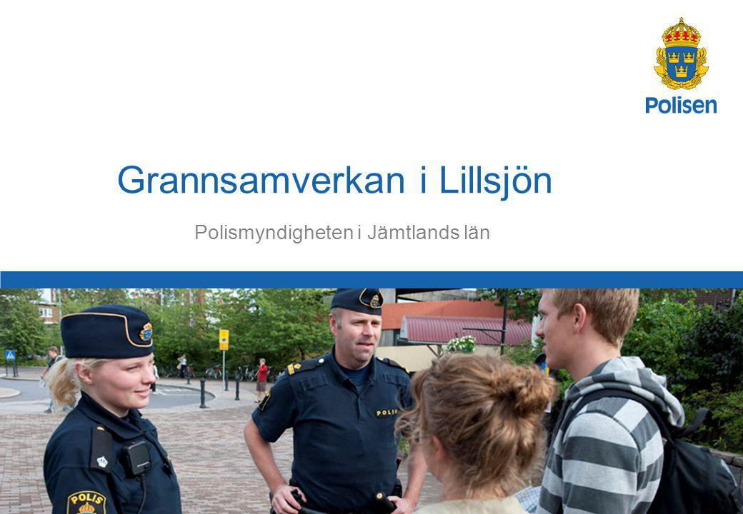 1 Polismyndigheten i Jämtlands län Grannsamverkan i Lillsjön