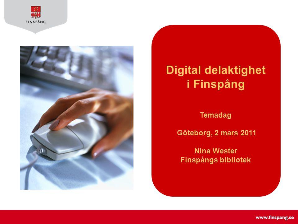 www.finspang.se Innehåll Internetundervisning för nybörjare - Kursinnehåll - Alla kan vara datorledare.
