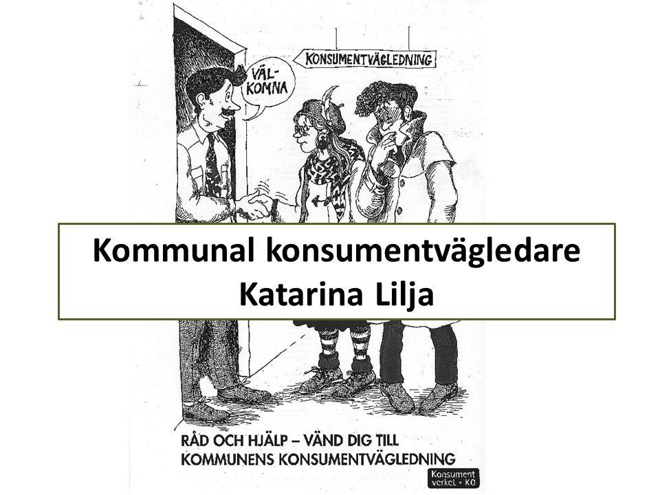 Kommunal konsumentvägledare Katarina Lilja