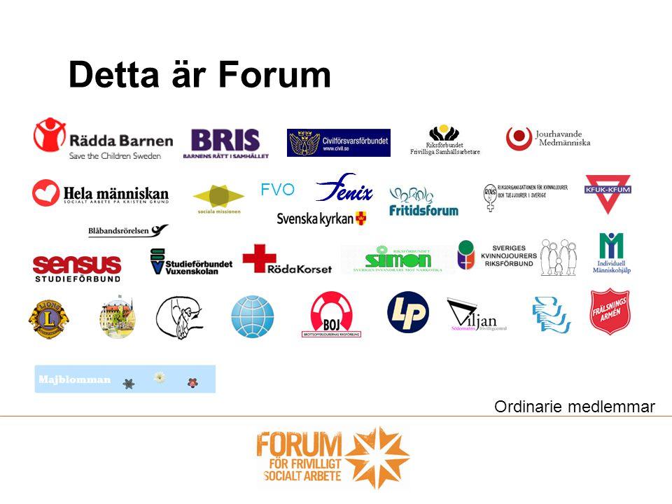Detta är Forum FVO Ordinarie medlemmar